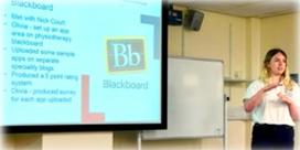 Person presenting presentation at PedR